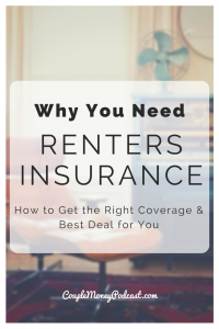 renters insurance couple money podcast