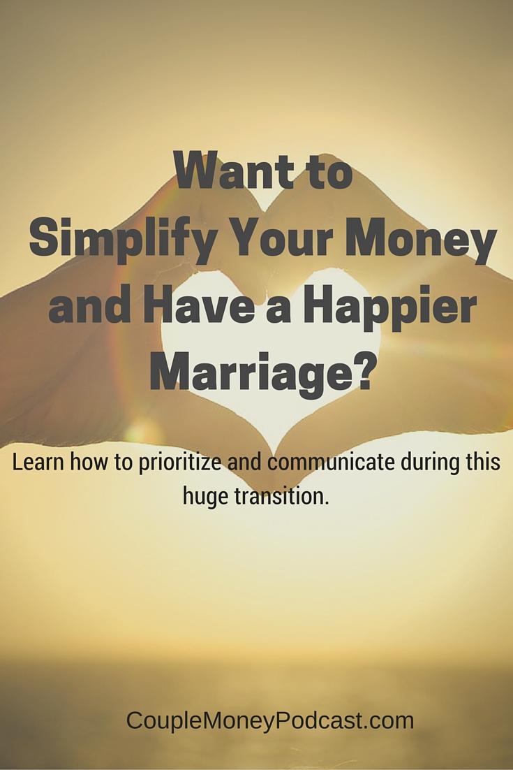 Simplify Your Finances Have A Happier Marriage Couple
