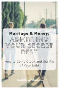 Learn why it's important to come clean about debt to your spouse. We also go over the process to make things easier and I have a success story I want to share to help you two be more open about your finances in your marriage.