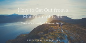 Want to get out of debt (like loads of it!), but having a hard time agreeing on how to do it? Toni from Debt Free Divas shares advice to help you and her story of how she and her husband got rid of six figures of debt.